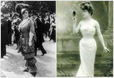 1900s fashion gibson girl Phụ nữ khi đó cũng đã bắt đầu mặc những trang phục kiểu như quần và váy hở vai.