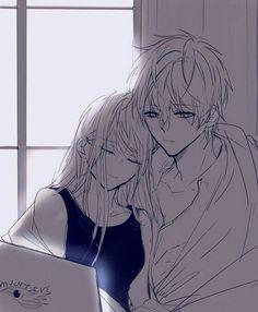 Manga Anime, Anime Art, Mystic Messenger Game, Saeran Choi, Bleach Couples, Manga Cute, Couple Art, Cute Anime Couples, Anime Love