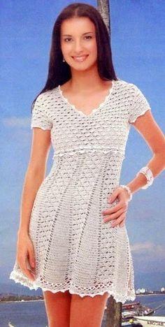 CROCHE DA ANJINHA: Vestidos em croche