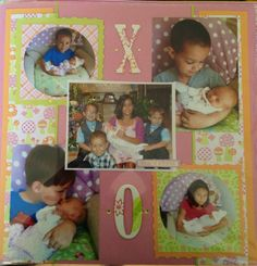 Cousins scrapbooking layout- new baby cousin