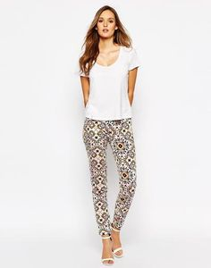 French Connection Trouser in Mosaic Print at asos.com #pants #frenchconnection #covetme #fcuk #skinny #slim