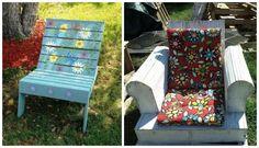 chaise bois bricolage idée fauteuil blanc coussins