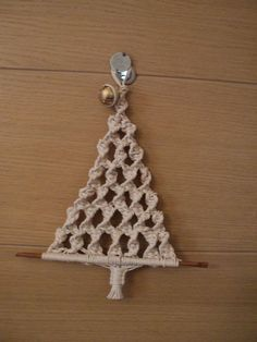How To Make A Macrame Christmas Tree Ornament Christmas