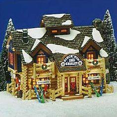 "Heath Bradley Hogle---Department 56: Products - ""Birch Run Ski Chalet"" - View Lighted Buildings"
