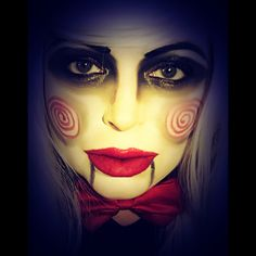 My Billy the puppet makeup from Saw.  #makeup #Saw #billythepuppet #Jigsaw #cosplay