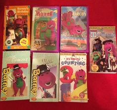 lot of 7 barney the purple dinosaur childrens vhs movies sing a long - Barney Christmas Movie