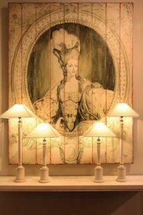 настольные лампы и панно Guadarte. Фотографии idealinterier gardina.