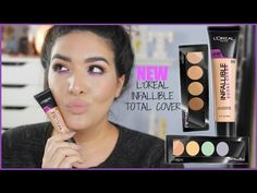 NEW L'Oreal Infallible Total Cover Foundation + Color Correcting & Concealing Palette - YouTube