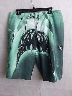 DC Lunchmeat Boardshorts Green Men's Waist Size 34 NWT