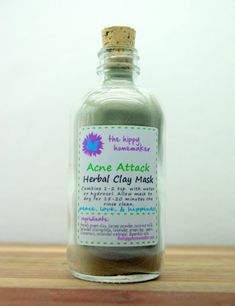 Acne Attack  Hippy Chic Herbal Clay Face Mask by TheHippyHomemaker, $18.00