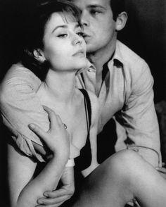 """Annie Girardot and Renato Salvatori from the set """"Ricco and his brothers"""" 1960  Photo: Giovan Battista Poletto"""