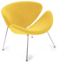 Yellow Accent Chairs, Accent Chairs For Sale, Yellow Accents, Bright Yellow, Cool Furniture, Furniture Design, Yellow Home Decor, Mid Century Armchair, Concept Home