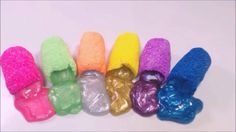 DIY Foam Clay Glitter Slime 폼클레이 액체괴물 놀이 장난감
