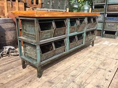 Industrial Workbench, Industrial Furniture, Vintage Industrial, Vintage Furniture, Old School, Shabby Chic, Rustic, Diy, Home Decor