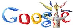 Google Japan Logo – Tarō Okamoto's 100th Birthday 11.02.26
