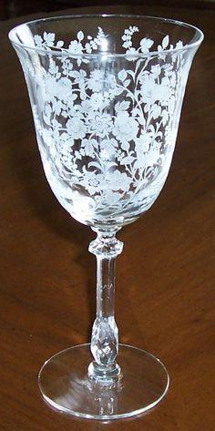 tiffin rose etched crystal