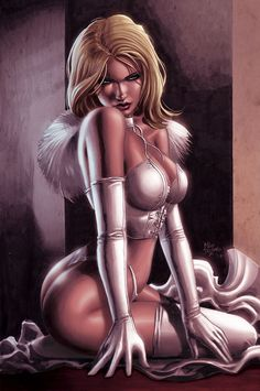 Emma Frost by Mike Deodato Jr., colours by David Ocampo *