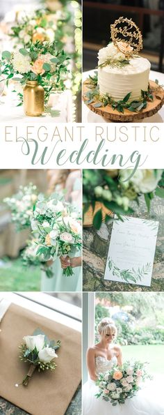Elegant rustic wedding in Burnaby, BC. Gold, soft blue and greenery details. Photos by L'Estelle Photography #rusticwedding #greenery