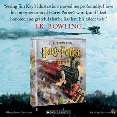 J.K. Rowling praises Jim Kay for his illustrations in the new illustrated edition of Harry Potter and thre Sorcerer's Stone. #harrypotterillustrated