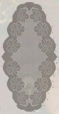 Crochet Table Runner Pattern, Crochet Doily Patterns, Crochet Motif, Crochet Designs, Crochet Doilies, Hand Crochet, Diy Crafts Crochet, Filet Crochet Charts, Fillet Crochet