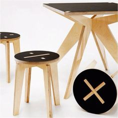 Maths Furniture - Cnc stools and table                                                                                                                                                                                 More
