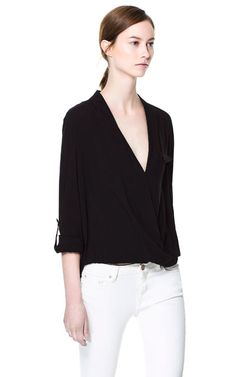CROSSOVER BLOUSE - Tops - Woman | ZARA United States