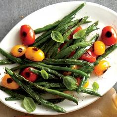 Blistered Green Beans and Tomatoes | MyRecipes.com #myplate #veggies