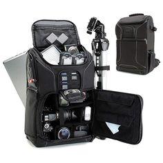 """DSLR Digital Camera Backpack 15.6"""" Laptop Pocket Rucksack Anti-Shock Bag Black #DSLRDigitalCameraBackpack"""