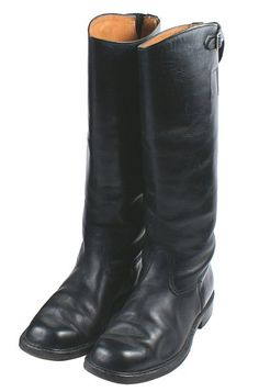 WWII German Wehrmacht officers' riding boots. Black Leather Boots, Leather Men, Soft Leather, War Machine, Tall Boots, Belt Buckles, Riding Boots, Kicks, German