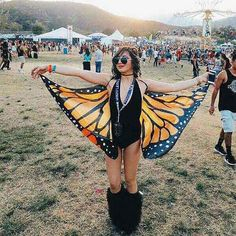 Butterfly wings I just want to fly away in at the next music festival or rave. Emerge as the beautiful butterfly you really are at mysoulmonkey.com -  #shoptapestry -  music festival wear - music festival outfit - costume - summer outfit - rave outfit