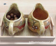 Pouring Acorns Montessori Fine Motor