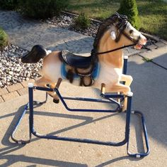 Bouncy Spring Rocking Horse Ride On Bouncing Bounce Riding Kid Child Classic Toy