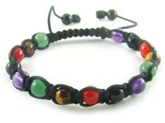 Amazon.com: BB0180N Multi stones Natural Healing Chakra Energy Crystal Bracelet with Chinese Knots: Jewelry