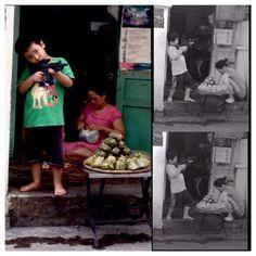 He protects his momma and her steamed banana buns! What a champ Viva la revolucion !!!!!!!! #revolutionary #revolutionchild