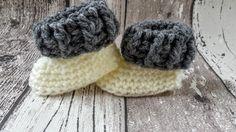 Gebreide & gehaakte schoenen - Gehaakte baby booties, baby slofjes, babyschoentje - Een uniek product van FrisianKnitting op DaWanda