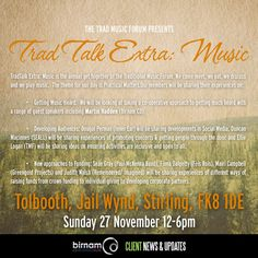 "Martin is taking part in this year's TradTalk Extra: Music, organised by the Trad Music Forum. He will be presenting a talk on ""Getting Music Heard"". Tickets are available here: http://www.tracscotland.org/scottish-storytelling-centre/centre-events/5937/trad-talk-extra-music"