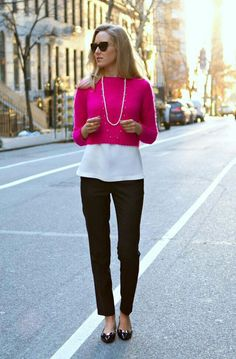 Bright cropped sweater
