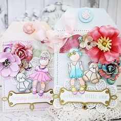 Melissa Phillips gorgeous project done with the Chameleon Pens and Julie Nutting baby stamps.
