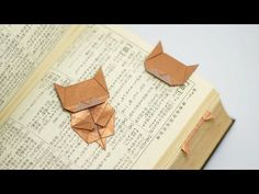 Origami Neko Bookmark (Jo Nakashima) - YouTube