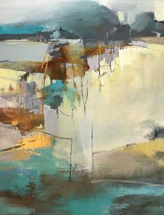 Toward the Horizon-abstract landscape by Joan Fullerton Acrylic ~ 40 x 30