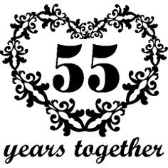 Personalized 55th anniversary gift for him55 year wedding