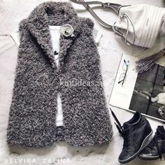 Knit Vest, Crochet Cardigan, Crochet Baby, Knit Crochet, Knit Fashion, Womens Fashion, Knitting Books, Knitting Patterns, My Style