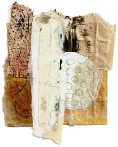 By colorpoetry  Martha Marshall - collage using weathered papers
