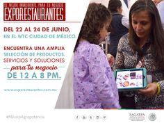 El mejor ingrediente para tu negocio exporestaurantes del 22 al 24 de junio, en el WTC de la ciudad de México. Encuentra una amplia selección y soluciones para tu negocio de 12 a 8 pm. www.exporestaurantes.com.mx SAGARPA SAGARPAMX #MéxicoAgroPontencia