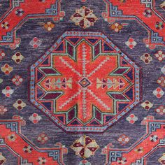 Navy and Red Turkish Kilim