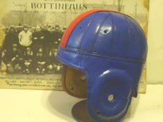 OLE MISS AND  kKNSAS STYLE LEATHER FOOTBALL HELMET