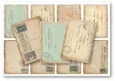 Digital Collage Sheet Download  Vintage Postcard by vintagebyme