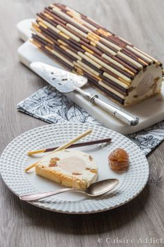 Bûche façon Mont-Blanc aux Mikado de LU - Cuisine Addict