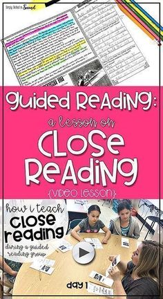 Guided Reading: A Lesson on Close Reading (video lesson) | #secondgrade #teachingresources #guidedreading Simply Skilled in Second