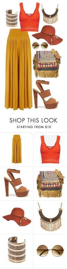"""Crocheted Top"" by dazzling-dazed-dayz ❤ liked on Polyvore featuring Torn by Ronny Kobo, Steve Madden, Vintage Addiction, Billabong, Ruby Rocks and MANGO"